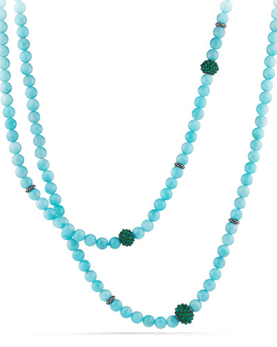 Osetra Necklace with Amazonite and Green Onyx