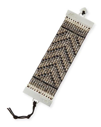 Wide Crystal Chevron Bracelet