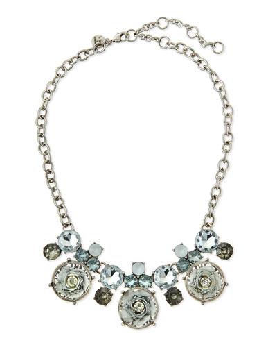 Floral Cabochon Statement Necklace