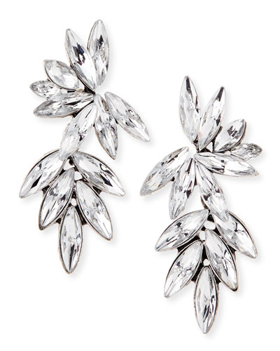 Marquis Crystal Statement Earrings