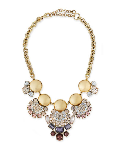 Sparkle Cluster Bib Necklace