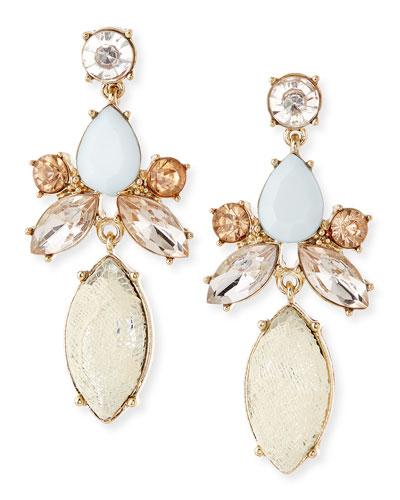 Lace & Crystal Drop Earrings