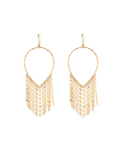 14k Oval Fringe Earrings