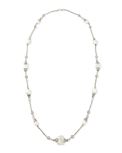 Simulated-Pearl Single-Strand Necklace