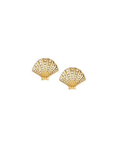 shore thing clam stud earrings