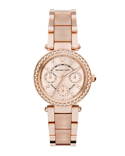 Mini Parker Rose Golden Stainless Steel Watch