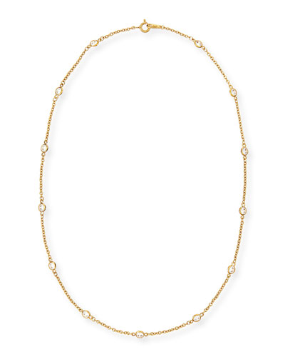 "Cubic Zirconia By-the-Yard Necklace, 16""L"