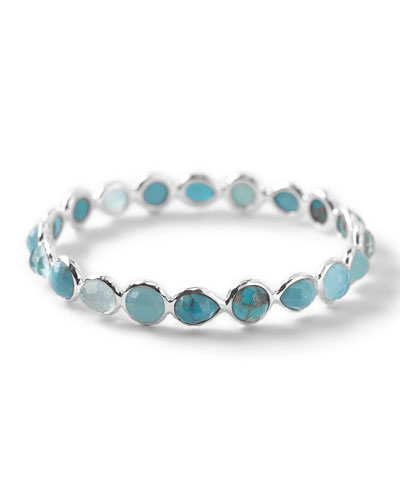 Wonderland Silver Turquoise Bangle