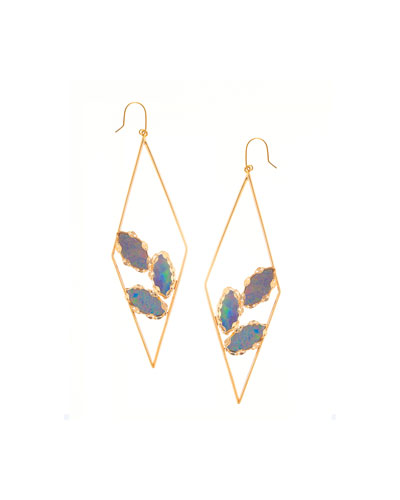Prix Diamond-Shape Opal Hoop Earrings