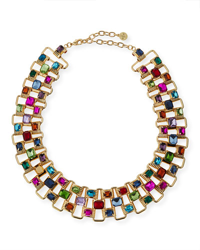 Multicolor Crystal Collar Necklace