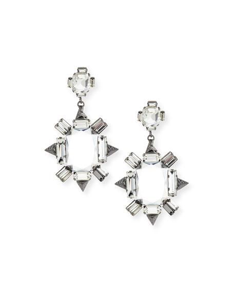 Crystal Chandelier Earrings Gunmetal