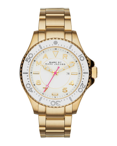 38mm Golden Stainless Steel Watch