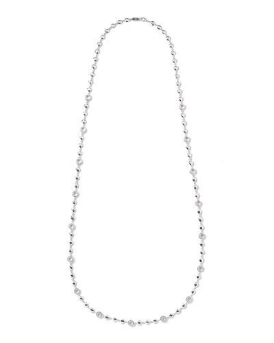 Silver Rock Candy Multi-Stone Necklace in Clear Quartz, 40""