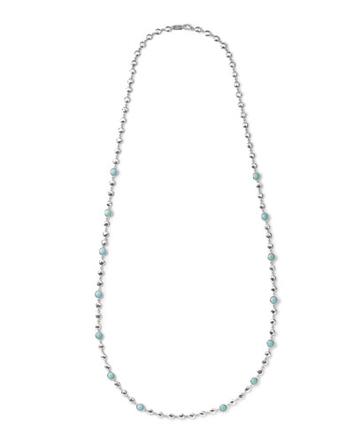 Silver Rock Candy Multi-Stone Necklace in Turquoise, 40""