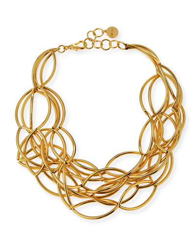 Gold-Plated Twisted Collar Necklace