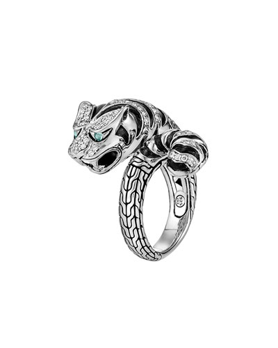 Classic Chain Macan Diamond Ring, Size 7