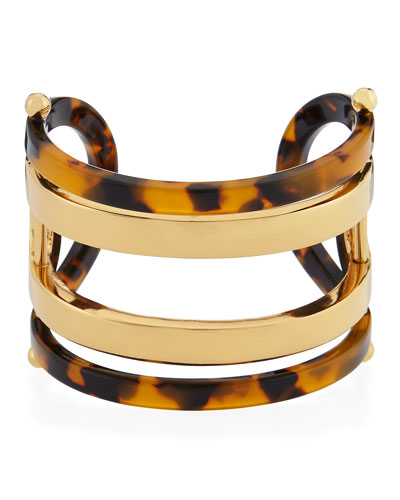 Open ID Resin & Metal Cuff Bracelet
