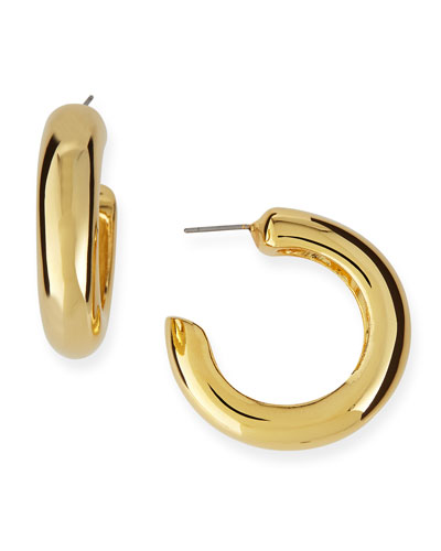 Polished Golden Hoop Earrings