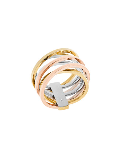 Tricolor Crisscross Ring