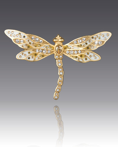Bejeweled Dragonfly Pin