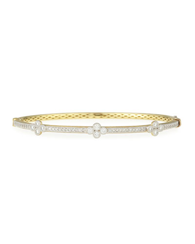 18k Provence Triple Quad Diamond Bangle