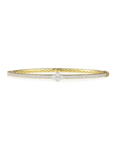 18k Provence Single Quad Diamond Bangle