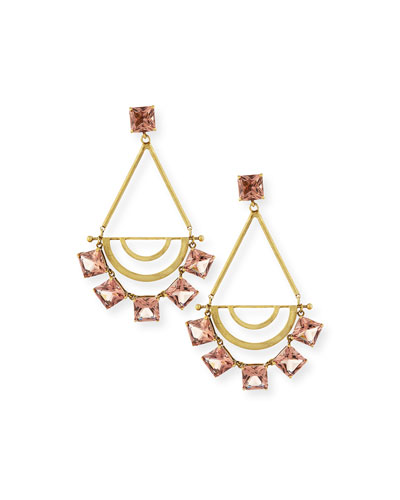 Teardrop Crystal Statement Earrings, Spiceberry