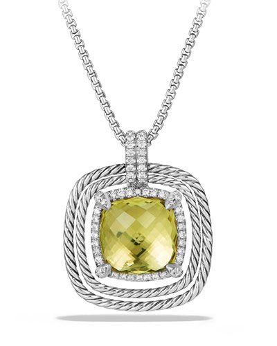 24mm Châtelaine® Spiraled Bezel Necklace with Diamonds