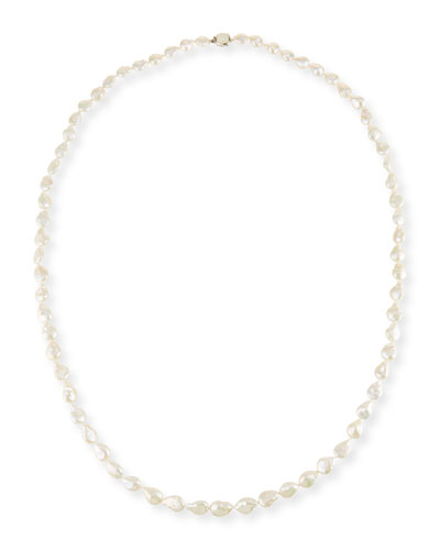 Long Baroque Pearl Necklace, 52
