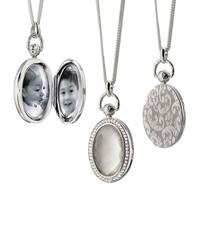 Mother-of-Pearl Locket Necklace