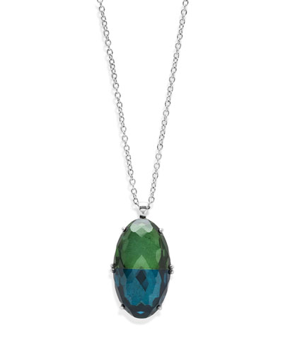 925 Rock Candy Split-Stone Pendant Necklace in Taffeta