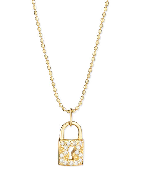 mu p evan gold pendant padlock diamond prod necklace sydney lock