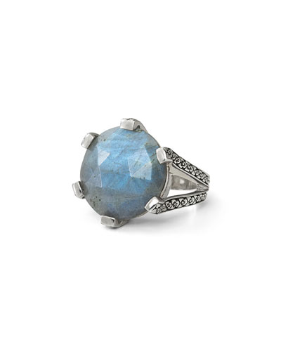 20mm Prong-Set Labradorite Ring