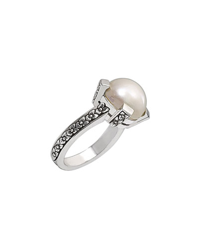 Pearly Sterling Silver Ring