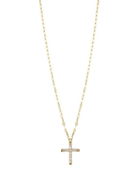 Very LANA GIRL BY LANA JEWELRY Girls' Diamond Cross Pendant Necklace TH07
