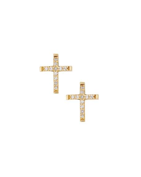 Lana Girl by Lana Jewelry Girls Diamond Cross Stud Earrings ylxpolpZ