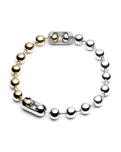 Pavé Ball Chain Necklace
