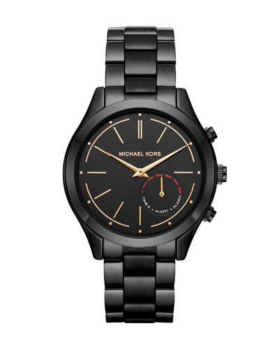 42mm Slim Runway Black IP Hybrid Smartwatch