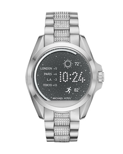 Bradshaw Stainless Steel Display Smartwatch with Crystals