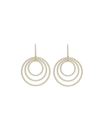 Lola Concentric Diamond Drop Earrings