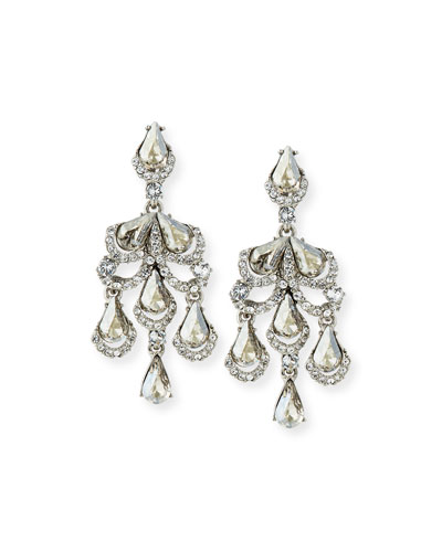 Baroque Crystal Clip-On Earrings