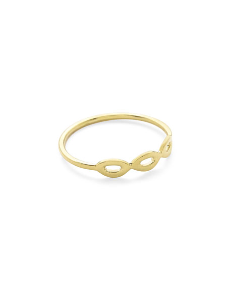 Ippolita Cherish Three-Link 18K Gold Ring bHyHgR