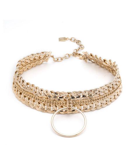 Dannijo Zig Chain Choker Necklace BKHCl7XbDS