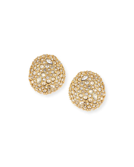 Alexis Bittar Pavé Crystal Pod Button Earrings