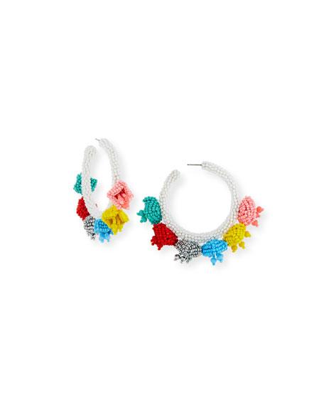 Sachin & Babi Grape Beaded Hoop Earrings DjyC55