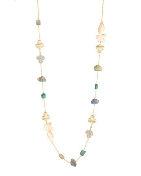 Alexis Bittar Crystal Encrusted Abstract Station Necklace d8qyGxr1