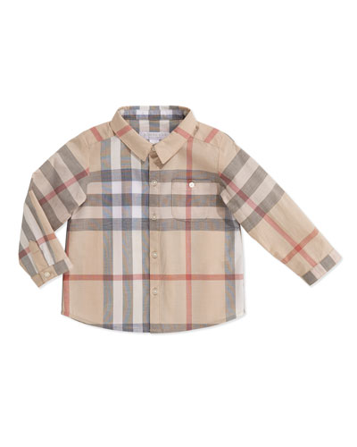 Pale Check Shirt, 3-24 Months