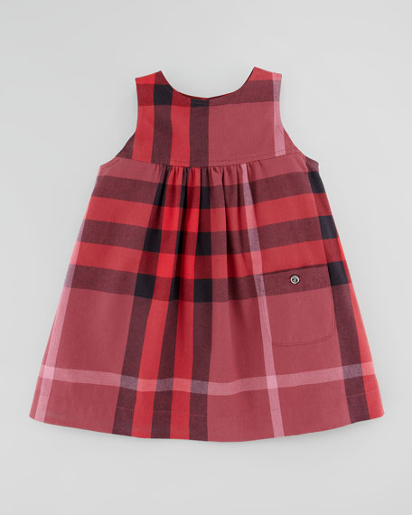 07fd2aa1f Burberry Toddler Girls' Check Twill Dress, Ruby Red