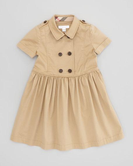 6ca6ed940 Burberry Girls' Trench Coat Dress, Honey, 4Y-10Y