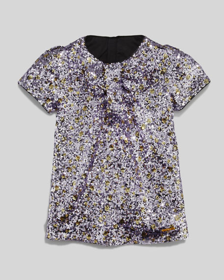 b8d90b47 Little Marc Jacobs Sequin Shift Dress, Purple, Sizes 6-10